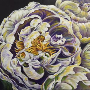 "Acrylic painting, ""Defining White"" by Canadian artist, Theresa Eisenbarth"