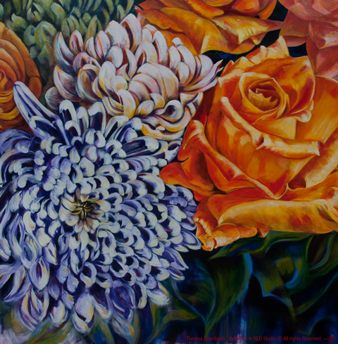 "Acrylic painting, ""Lotties Hidden Gem"" by Canadian artist, Theresa Eisenbarth"