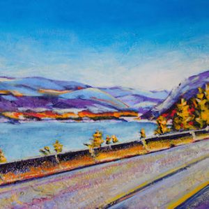 "An acrylic painting of the road to Magna Bay called ""On the Way to My Happy Place"" by Canadian artist Theresa Eisenbarth"
