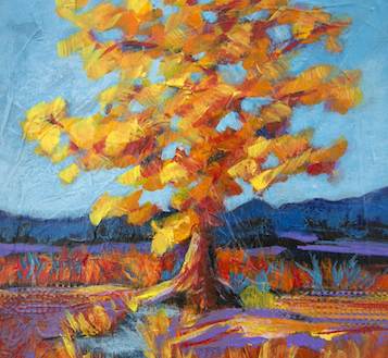 "Acrylic painting, "" Abstract Tree "" by Canadian artist, Theresa Eisenbarth"