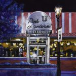 "Acrylic painting, ""The Old Pink Lantern, Medicine Hat "" by Canadian artist, Theresa Eisenbarth"