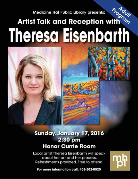 An art exhibit involving Canadian artist, Theresa Eisenbarth