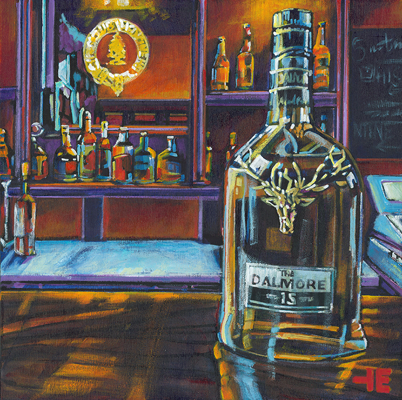 "Acrylic painting, "" Belmore Scotch at the Cypress Club, Medicine Hat "" by Canadian artist, Theresa Eisenbarth"