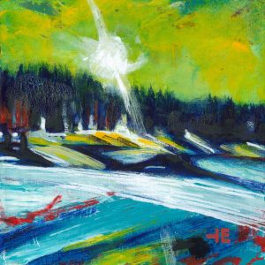 "Acrylic painting, "" Elkwater Landing"" by Canadian artist, Theresa Eisenbarth"