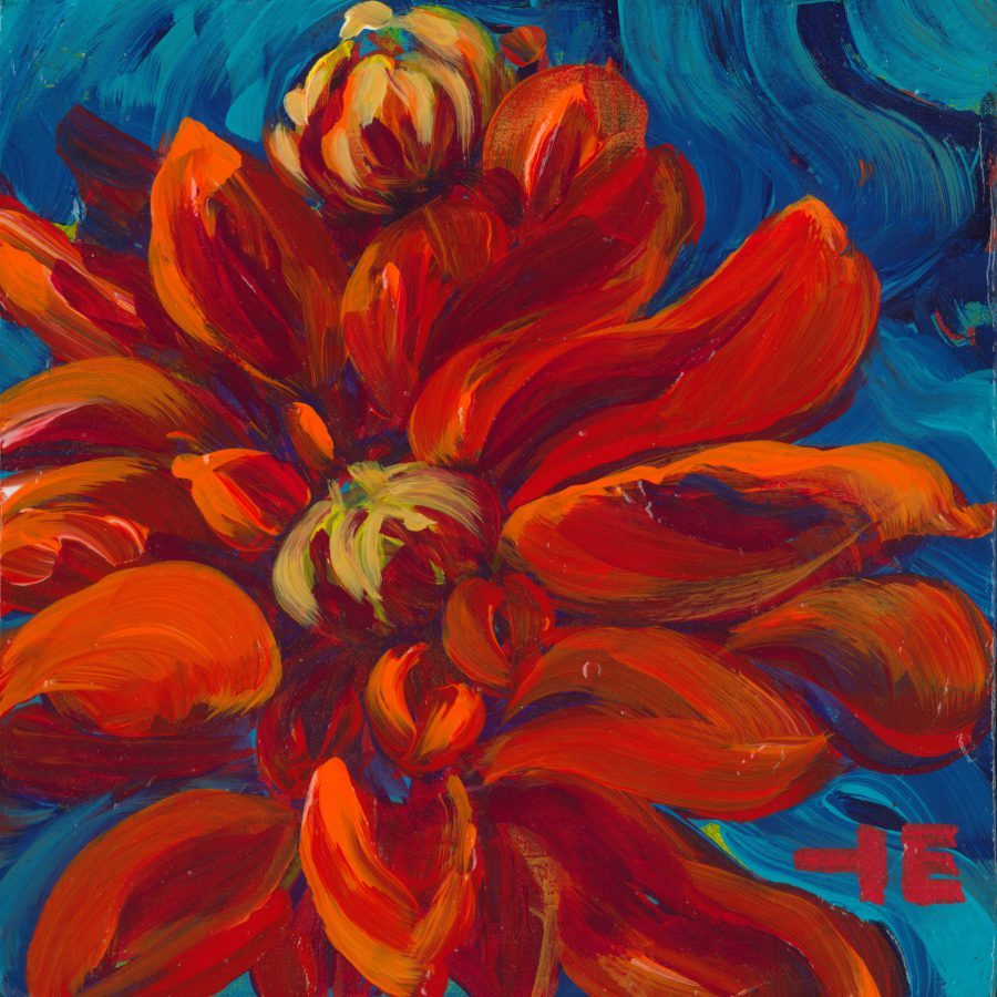 """Acrylic painting, """" Title of the Painting """" by Canadian artist, Theresa Eisenbarth"""