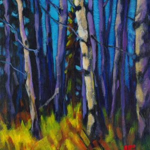 "Acrylic painting, "" Hurry Up, Cypress Hills "" by Canadian artist, Theresa Eisenbarth"