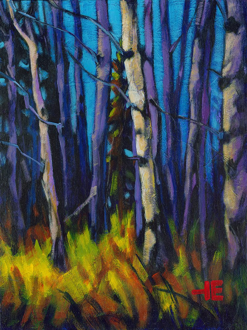 """Acrylic painting, """" Hurry Up, Cypress Hills """" by Canadian artist, Theresa Eisenbarth"""