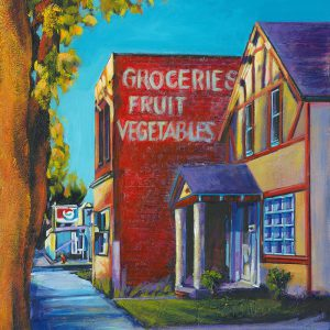 "Acrylic painting, "" Scudders Grocery, Medicine Hat "" by Canadian artist, Theresa Eisenbarth"
