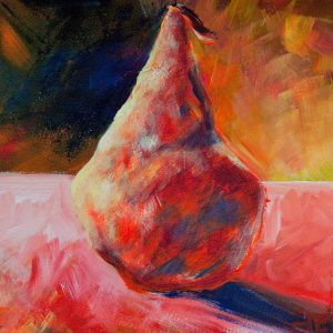 "Acrylic painting, "" Pink Highlight "" by Canadian artist, Theresa Eisenbarth"