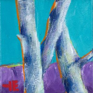 "Acrylic painting, "" Three Crossed Sisters "" by Canadian artist, Theresa Eisenbarth"