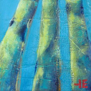 "Acrylic painting, "" Three Pillars "" by Canadian artist, Theresa Eisenbarth"