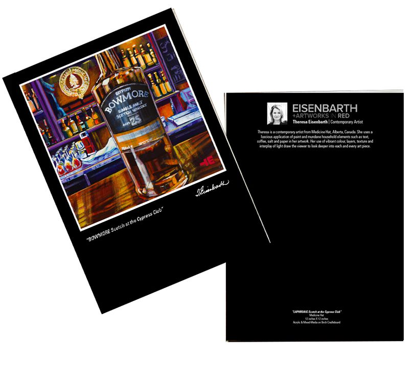 Notecards of Bowmore Scotch painting, by Medicine Hat artist, Theresa Eisenbarth