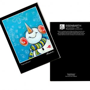 Notecards of Frosty the Snowman painting, by Medicine Hat artist, Theresa Eisenbarth
