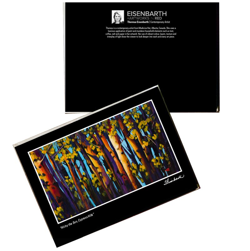 Notecards of Hit by the Sun painting, by Medicine Hat artist, Theresa Eisenbarth