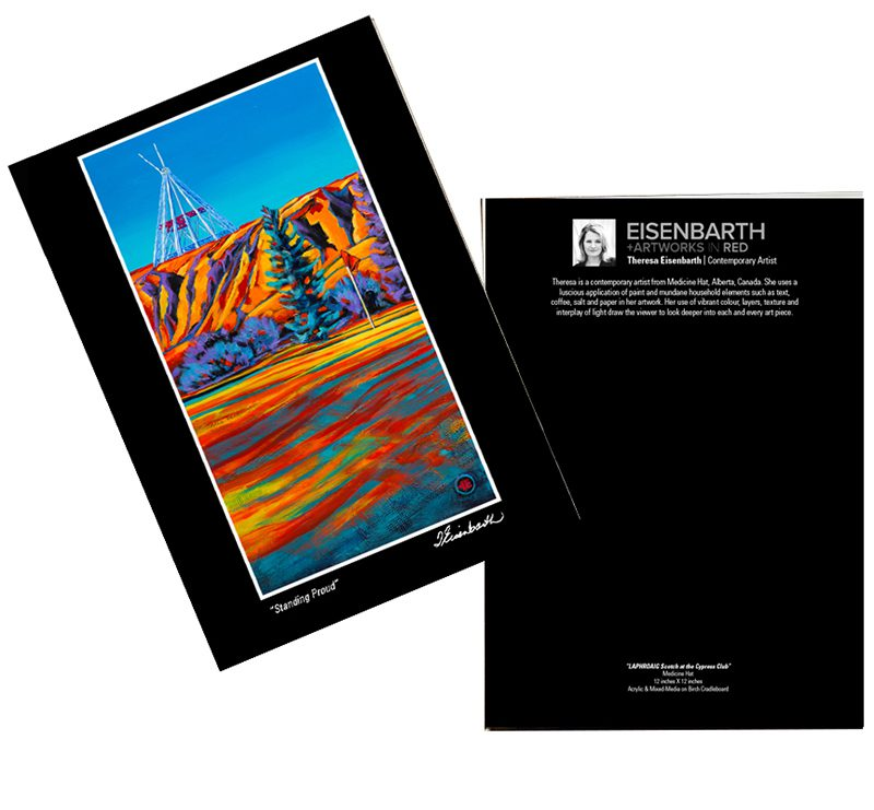 Notecards of the Teepee painting, by Medicine Hat artist, Theresa Eisenbarth