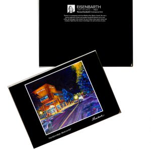 Notecards of City Hall at Night painting, by Medicine Hat artist, Theresa Eisenbarth