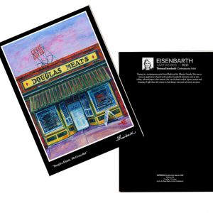 Notecards of Douglas Meats painting, by Medicine Hat artist, Theresa Eisenbarth