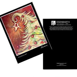 Notecards of a Funky Christmas Tree painting, by Medicine Hat artist, Theresa Eisenbarth