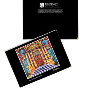Notecards of Courthouse Doors painting of Medicine Hat Courthouse, by Medicine Hat artist, Theresa Eisenbarth