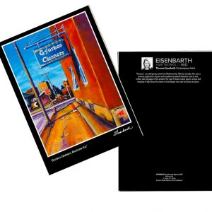 Notecards of Gyorkos Cleaners painting, by Medicine Hat artist, Theresa Eisenbarth