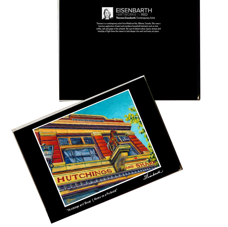Notecards of Hutchings and Sharp painting, by Medicine Hat artist, Theresa Eisenbarth