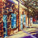 "Acrylic painting, "" Beauty on Aberdeen "" by Canadian artist, Theresa Eisenbarth"