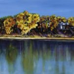 Looking Across South Saskatchewan | An Acrylic painting by artist, Theresa Eisenbarth ​