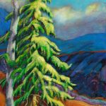 Pair Of Trees On The Ridge | An Acrylic painting by artist, Theresa Eisenbarth ​