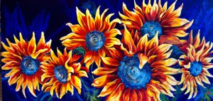 Sunflowers Over My Head | An Acrylic painting by artist, Theresa Eisenbarth