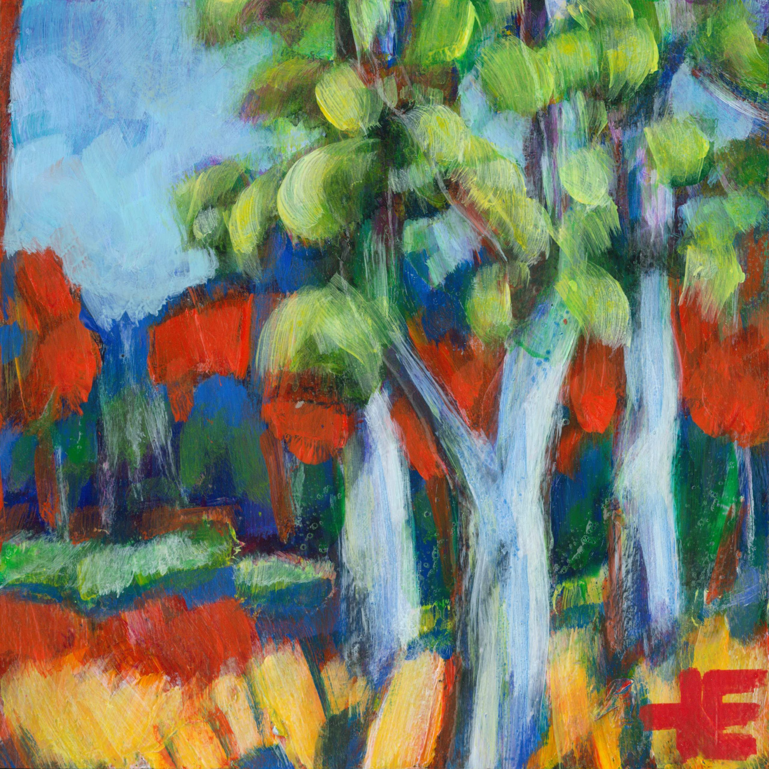 """A photo of the trees in Elkwater called """"End Of The Hike-Horseshoe Canyon"""" by Canadian artist Theresa Eisenbarth"""