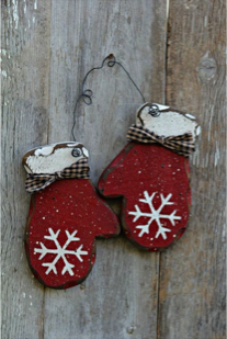 Mitts and Snowflakes Class for January with artist Theresa Eisenbarth