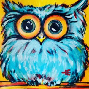 Owl for Paint & Learn Class_March at Eisenbarth art studio