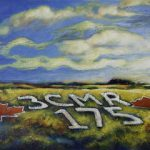 An acrylic painting of the 3-CMR 175 regiment memorial in Medicine Hatby canadian artist, theresa eisnbarth