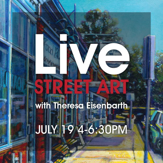 Live Street art and painting with Medicine Hat artist, Theresa Eisenbarth at the Cypress Club in July 2019