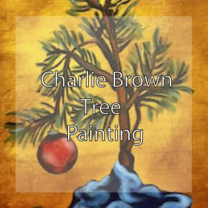 Charlie brown Tree Painting by Theresa Eisenbarth