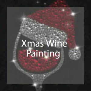Christmas Wine Glass painting by Theresa Eisenbarth
