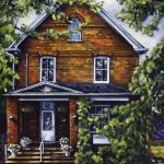 "Acrylic painting, ""Vern Hyde's Painting of his office, Medicine Hat "" by Canadian artist, Theresa Eisenbarth"