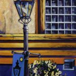 A painting of a gaslight from artist, Theresa Eisenbarth