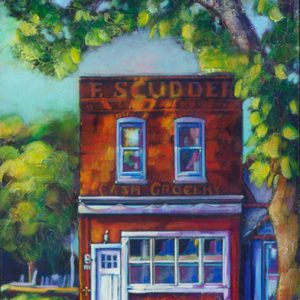 "An Acrylic Painting named ""Cash For Groceries"" by Canadian artist, Theresa Eisenbarth"
