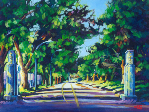 "An Acrylic Painting named ""The Lions Gate"" by Canadian artist, Theresa Eisenbarth"