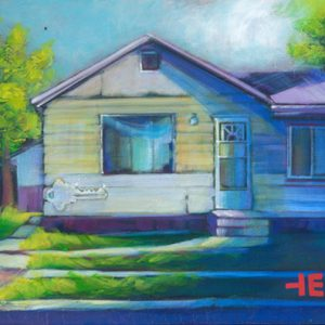 "An Acrylic Painting named ""Mrs. Rogers House"" by Canadian artist, Theresa Eisenbarth"