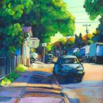 "An Acrylic Painting named ""Neighbourhood Grocery-A Deluxe Experience"" by Canadian artist, Theresa Eisenbarth"