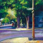 "An Acrylic Painting named ""On My Way To School"" by Canadian artist, Theresa Eisenbarth"