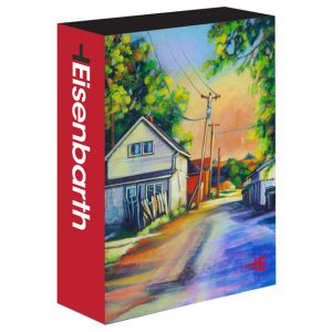 An Art Puzzle of a colorful back alley by Canadian Artist Theresa Eisenbarth