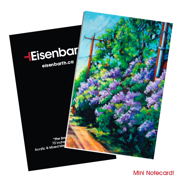 The Smell of Lilacs Mini-Notecards Set by Canadian Artist, Theresa Eisenbarth