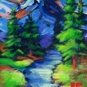 "An Acrylic Painting named ""A Path to Paradise"" by Canadian artist, Theresa Eisenbarth"