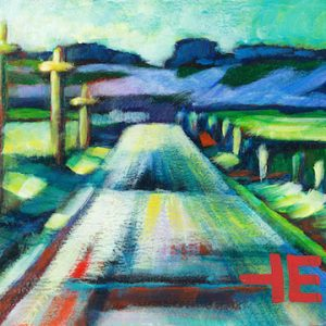 "An Acrylic Painting of a road named ""A Typical Prairie Road"" by Canadian artist, Theresa Eisenbarth"
