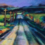 """An acrylic painting of a highway Called """"All Roads Go Somewhere"""" by Canadian artist Theresa Eisenbarth"""