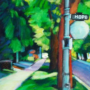 "An Acrylic Painting of a street named ""Hope Street"" by Canadian artist, Theresa Eisenbarth"