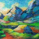 """An acrylic Painting by artist Theres Eisenbarth called """"Mountain Escape"""""""